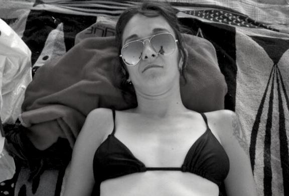 selma en la playa